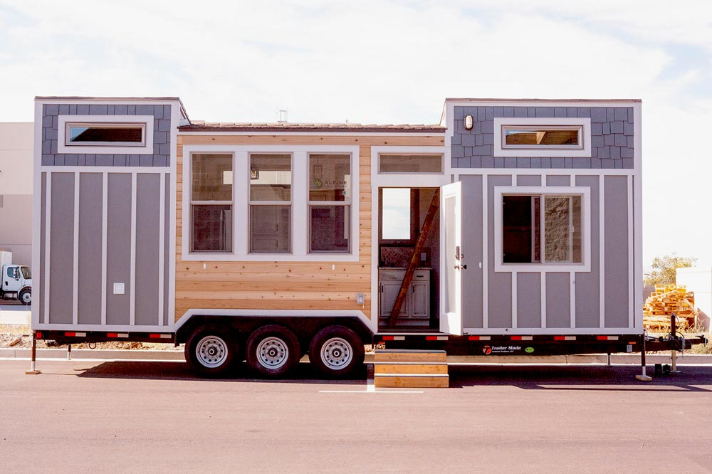 teton by alpine tiny homes tiny houses on wheels for sale listings. Black Bedroom Furniture Sets. Home Design Ideas