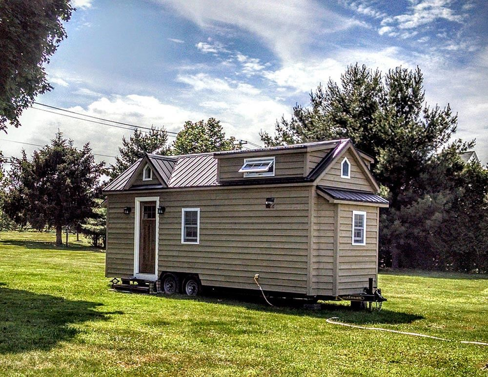 Modern farmhouse by liberation tiny homes tiny houses on for Small house builders near me