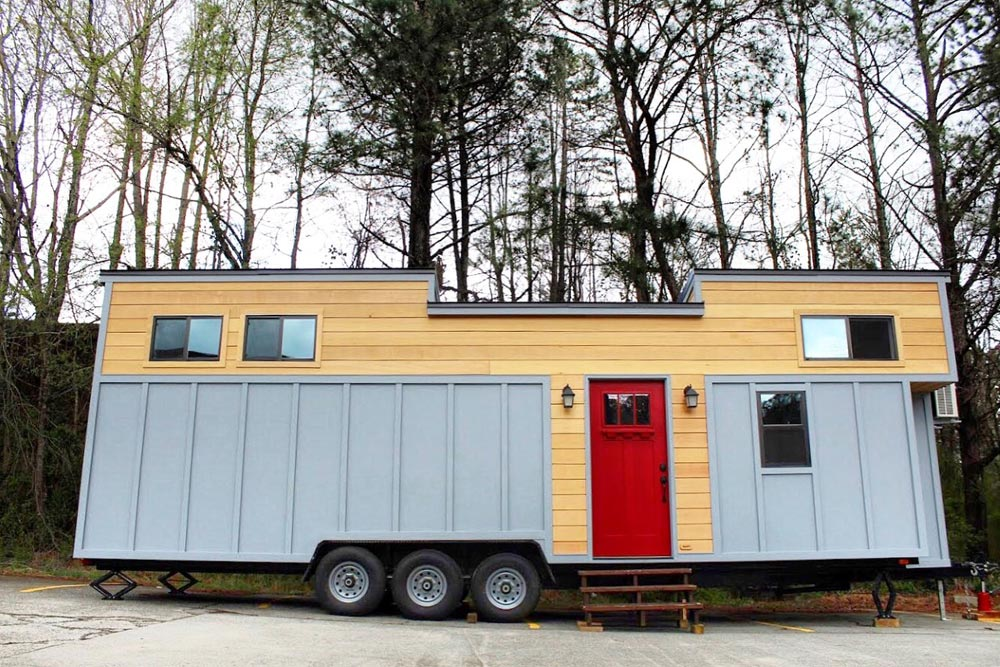 Juniper by mustard seed tiny homes tiny houses on wheels for Small house builders near me