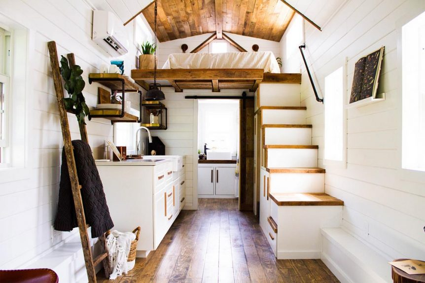 Modern Tiny House Interior: Farmhouse Take Four By Liberation Tiny Homes